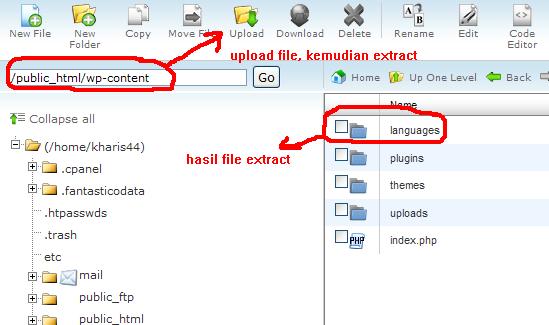 Cara Merubah Aplikasi WordPress ber-bahasa Indonesia